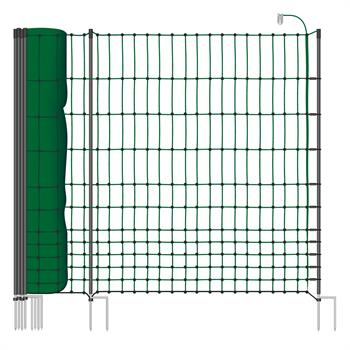 VOSS.farming classic+ 50m Premium Chicken Fence, Poultry Netting, 112cm, 20 Posts, 2 Spikes