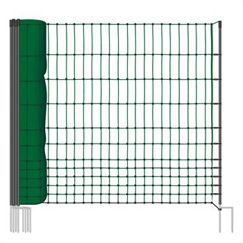 VOSS.farming classic 50m Chicken, Poultry Fence / Netting, 112cm, 16 Posts, 2 Spikes, Non-Electric