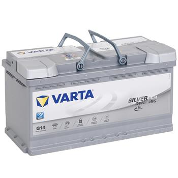 VARTA Silver Dynamic AGM Electric Fence Battery 12V, 95Ah, Filled and Charged