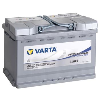 VARTA PROFESSIONAL Electric Fence AGM Rechargeable Battery 12V, 70Ah
