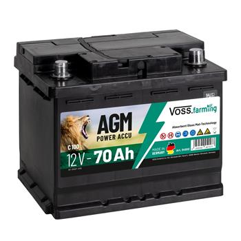 VOSS.farming AGM Electric Fence Rechargeable Battery 12V, 70Ah