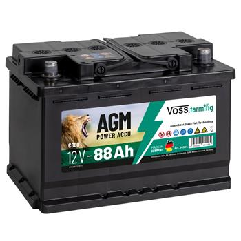VOSS.farming AGM Electric Fence Rechargeable Battery 12V, 88Ah