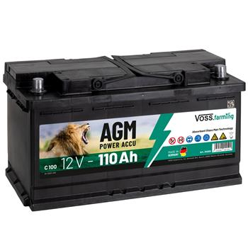 VOSS.farming AGM Electric Fence Rechargeable Battery 12V, 110Ah