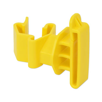 25x T-Post Tape Insulator, Yellow