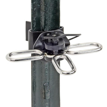 2x VOSS.farming T-Post Gate Insulator with 3x hanger clip, Black