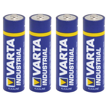 "4x 1.5V Battery,Type AA, ""Varta Industrial"""