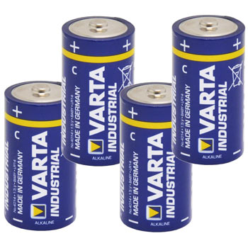 "4x 1.5V Battery, Pack C, ""Varta Industrial"""