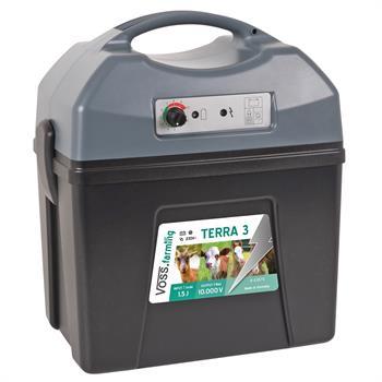 """VOSS.farming """"TERRA 3"""" Electric Fence Battery Energiser - 9V, 12V & 230V Operation Possible"""