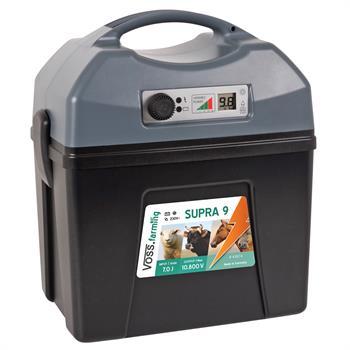 """VOSS.farming """"SUPRA 9"""" Electric Fence Battery Energiser - 9V, 12V & 230V Operation Possible"""