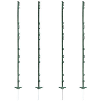 "40x VOSS.farming ""farm 156"" Electric Fence Posts 156 cm, 11 Lugs, Green"