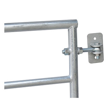 Pasture gate Electric fence gate, hot-dip galvanised, adjustable 205–300 cm, 110 cm high Pic:4
