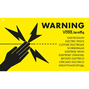 "Warning Sign International ""WARNING ELECTRIC FENCE"""