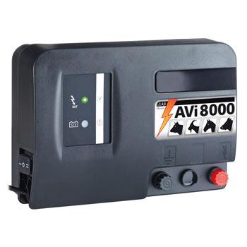 """VOSS.farming """"AVi 8000"""" - 12V Battery / Mains Energiser, incl. Digital Fence Tester"""