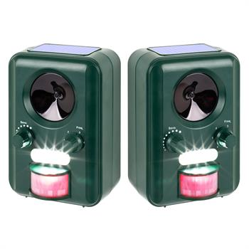 2x VOSS.sonic 2000 Ultrasonic Animal Repeller, Cat, Dog Scarer, Badger, Fox, Rabbit Deterrent