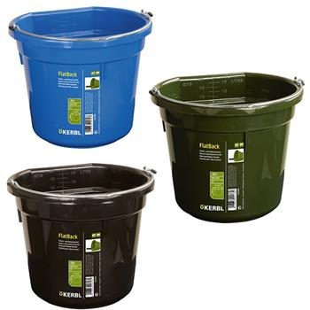 Feed and Water Bucket Flat Back, 20L