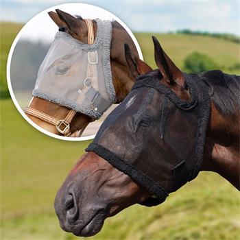 QHP Fly Mask for Horses and Ponies, Without Ears