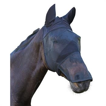Fly Mask with Ear & Nostril Protection for Horses & Ponies