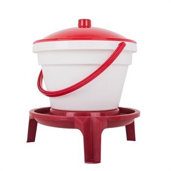 Poultry Drinker Bucket, 12 Litres, with Legs and Carrying Handle