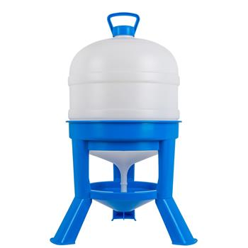 Tripod Siphon Poultry Drinker, 30 L, Blue