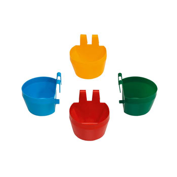 Poultry water bowl, 300 ml, for exhibition cages (red, blue, yellow, green)
