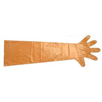 "100x Disposable Glove ""VETbasic"", Orange"