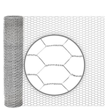 10m VOSS.farming Wire Netting, Rabbit Fence, 50cm High, Mesh 13x25mm, Galvanised