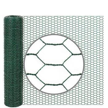 10m VOSS.farming Wire Netting, Rabbit Fence, 50cm High, Mesh 13x25mm, Green