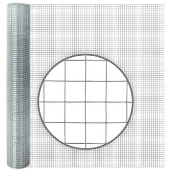 10m VOSS.farming Galvanised Wire Mesh, 100cm High, Mesh 12.7x12.7mm, Ø 0.65mm