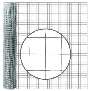 10m VOSS.farming Galvanised Wire Mesh, 100cm High, Mesh 25.4x25.4mm, Ø 1.05mm