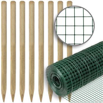 72602-1-set-voss-farming-wire-mesh-10-mx100-cm-mesh-size-12-7x12-7-mm-green-8x-wooden-posts.jpg