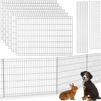 VOSS.garden Garden Fence 80x690cm, Galvanised - Pond Protection & Dog Enclosure