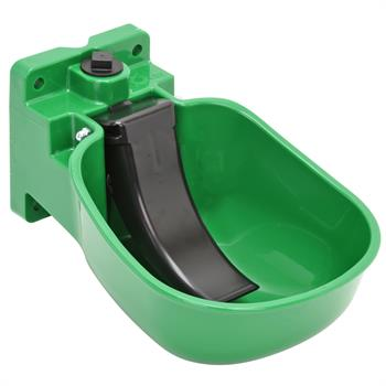 Drinker K50 for Cattle & Horses with Pressure Tongue, Made from High-Quality Plastic, Green