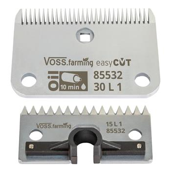 "VOSS.farming ""easyCUT"" Blade Set for Horse Clippers (30/15 Teeth), 1mm Cutting Height"
