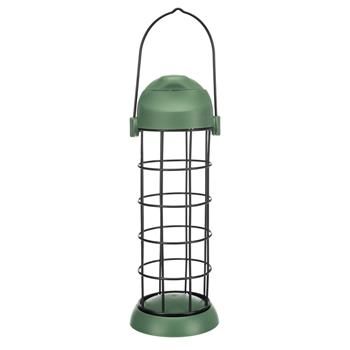 Fat Ball Feeder with Roof, Metal/Plastic, Green