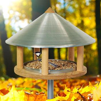 Roskilde - Bird Table in Danish Design, 155cm High, Diameter 40 cm, incl. Stand