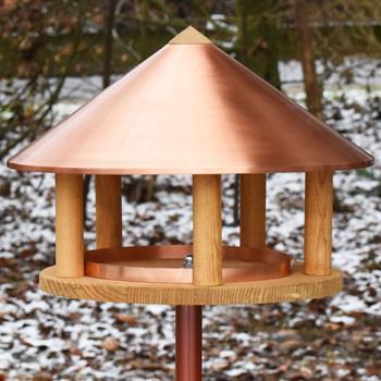 Kopenhagen - Bird Table in Danish Design, Copper Roof, 155 cm High, incl. Stand
