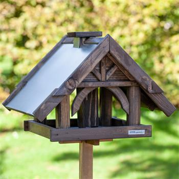 """VOSS.garden """"Sibo"""" - Wooden Bird Table with Stand"""