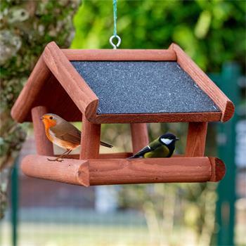 "VOSS.garden ""Tilda"" - Wooden Bird Table for Hanging"