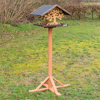 """VOSS.garden """"Montreal"""" - Bird House with Tree Design, with Stand"""
