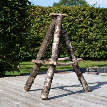 VOSS.garden Bird Table Stand, Birch Wood, Heavy, 115cm
