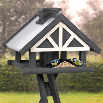 "VOSS.garden ""Levar"" - Wooden Bird Table with Stand"