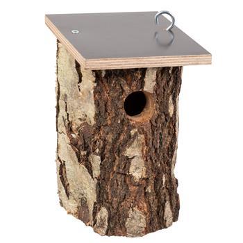VOSS.garden Birch Nest Box, Entrance Hole Ø 32mm