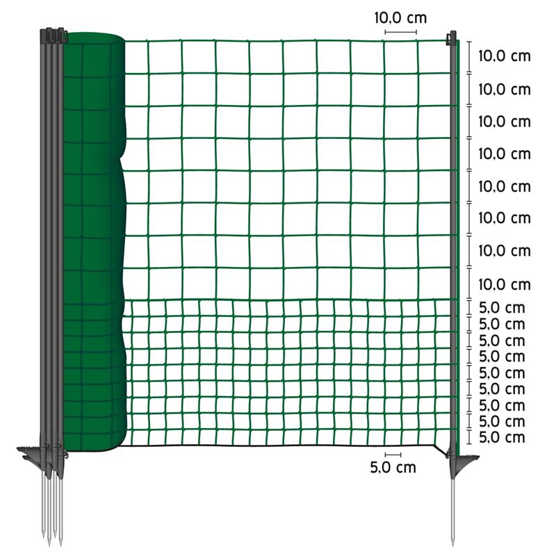 VOSS.farming Premium poultry netting 25 m, extra high 125 cm, easy ...