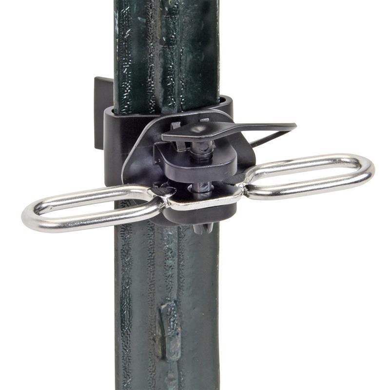 2x Voss Farming T Post Gate Insulator With 2x Hanger Clip