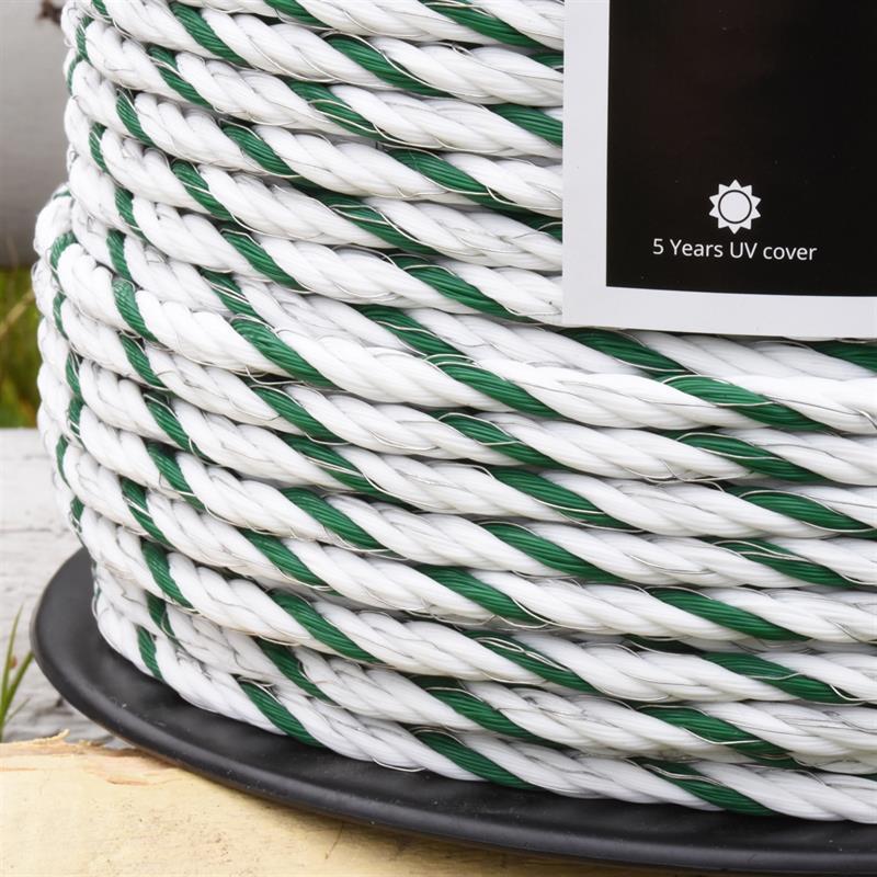 VOSS.farming Electric Fence Rope 200m, Ø 6mm, 6x0.25 HPC®, High ...