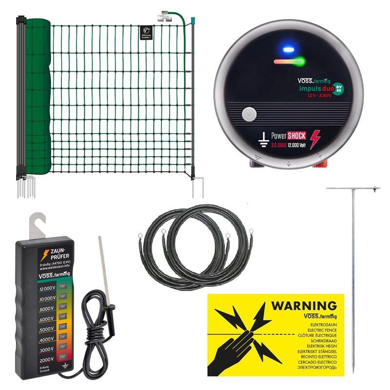 45776.uk-1-voss.farming-electric-fence-complete-starter-kit-poultry-12v-energiser-25m-green-netting.