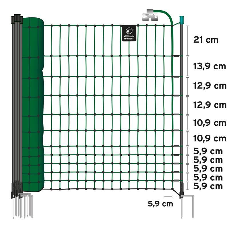 45776.uk-4-voss.farming-electric-fence-complete-starter-kit-poultry-12v-energiser-25m-green-netting.