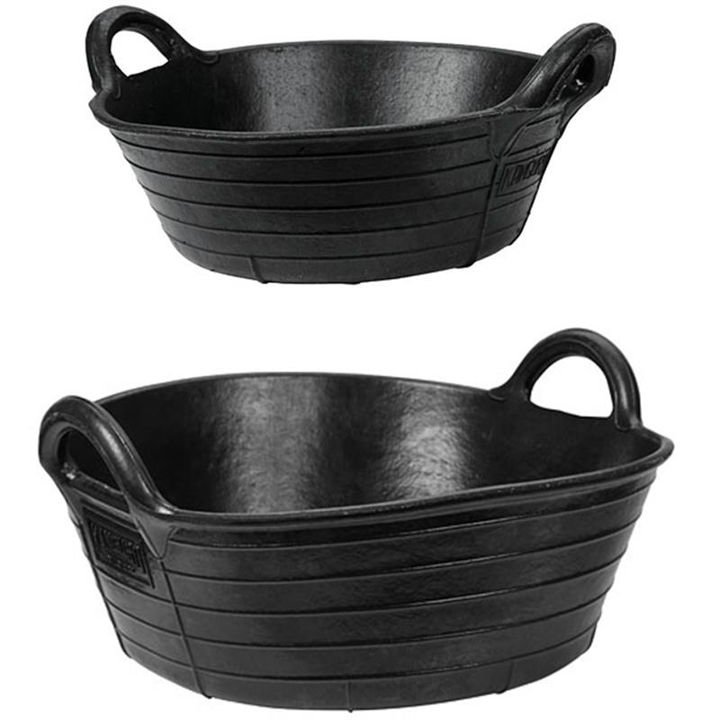 Rubber Feed Trough: Flexible Rubber Trough With Handles