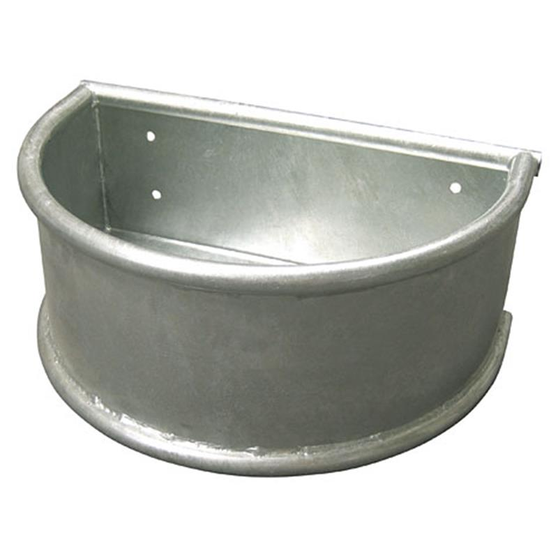 Round Trough, Hot Dipped Galvanised Steel with Rounded Edges, 28 l