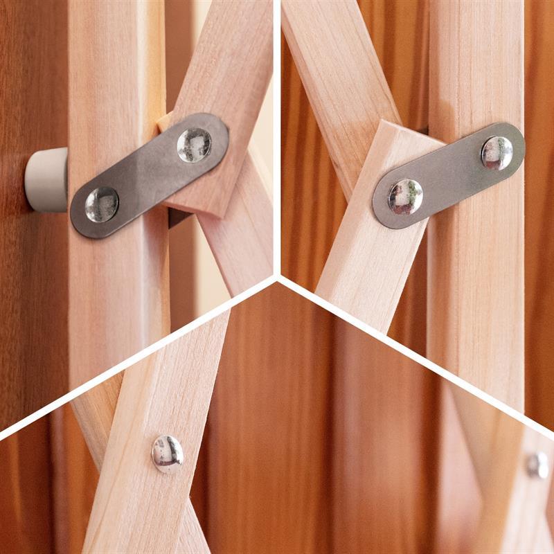 Wooden Expansion Pet Gate Quot Pressfix Quot Adjustable 65 104 Cm